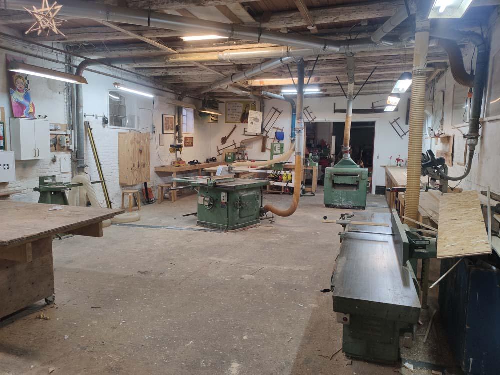 Wood workshop Svanholm